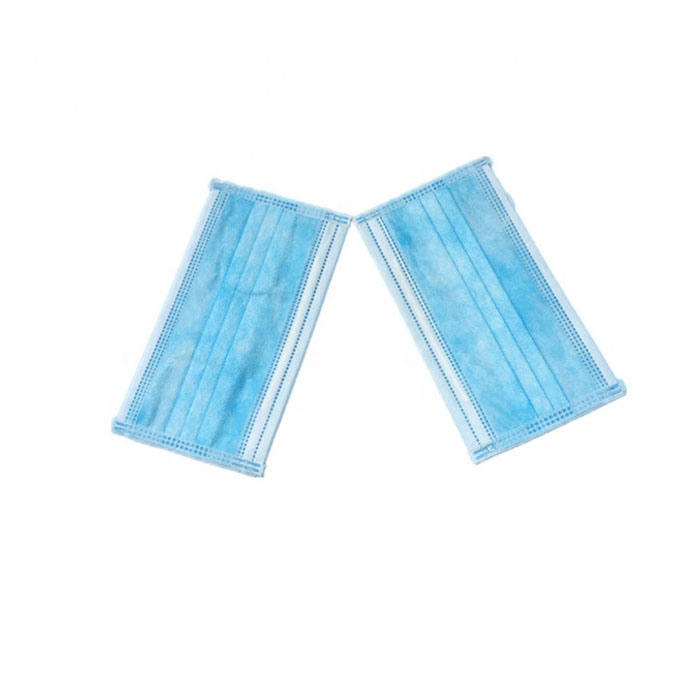 Blue Earloop Pleated 3 Ply Medical Procedure Disposable Surgical Mask