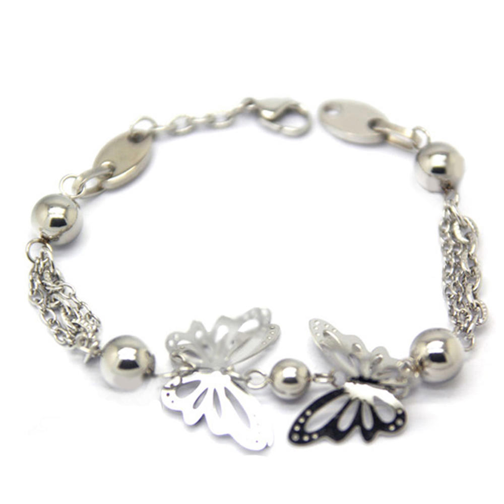 Stainless steel butterfly chain jewelry fashion bracelet