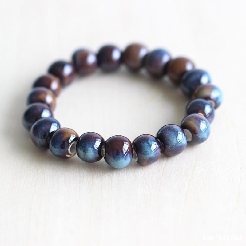 Direct Manufacturer Special Process Firing Colored Ceramic Beads Bracelet