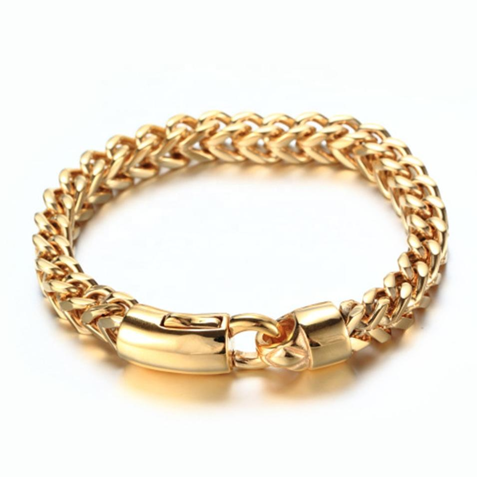 European And American Stainless Steel Bracelet Gold, Men's Accessories Wholesale, Fashion Powerful Keel Bracelet Gold