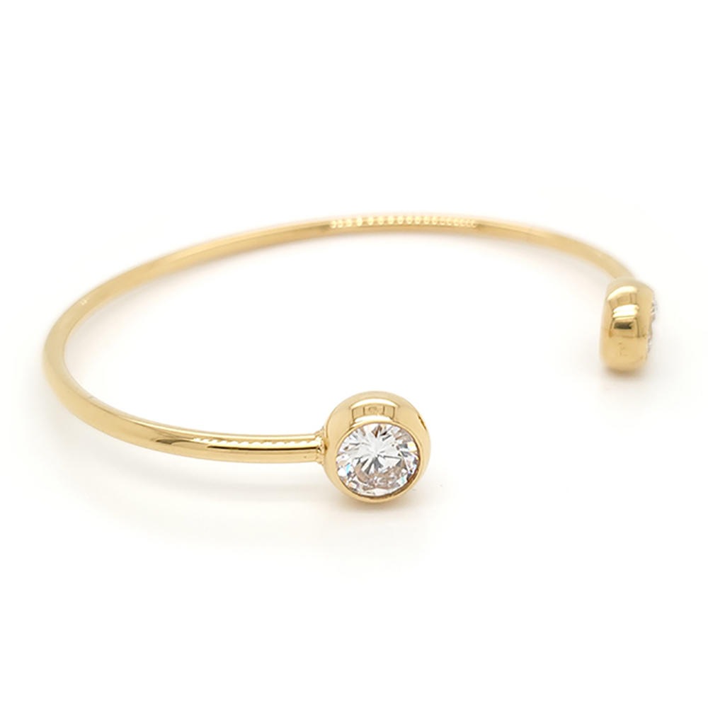Boutique 18K Gold Plating Zircon Cuff Bracelets Bangle Wholesale