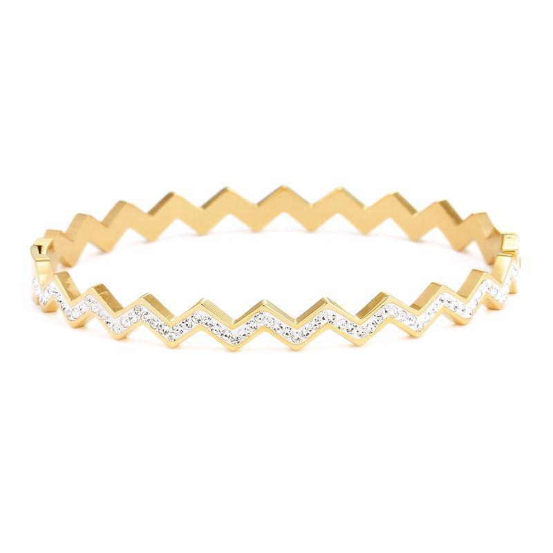 Geometric Design Simple Bracelet One Gram Gold Jewellery Dubai