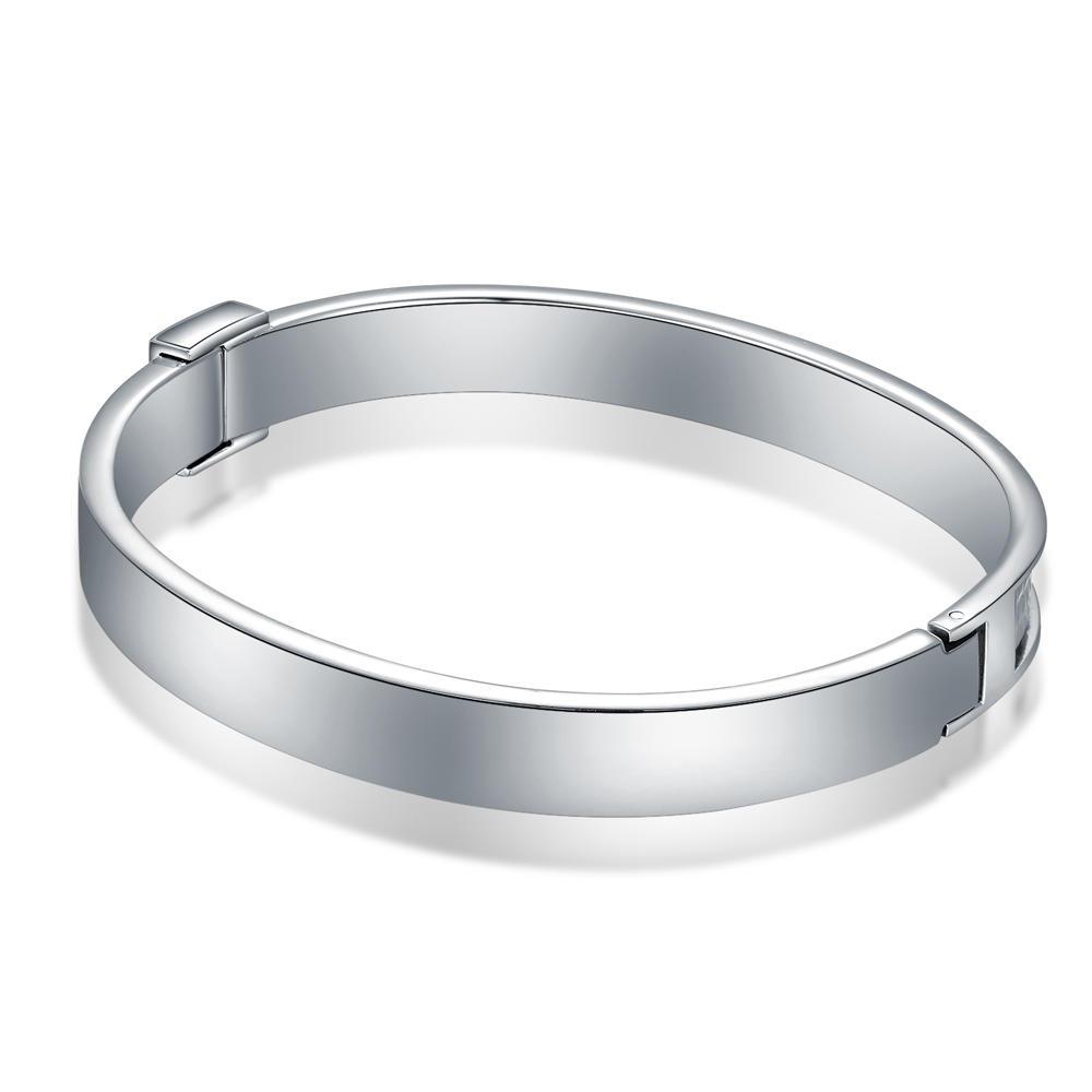 Trendy Women's Stainless Steel Half Thread Bracelet Jewelry