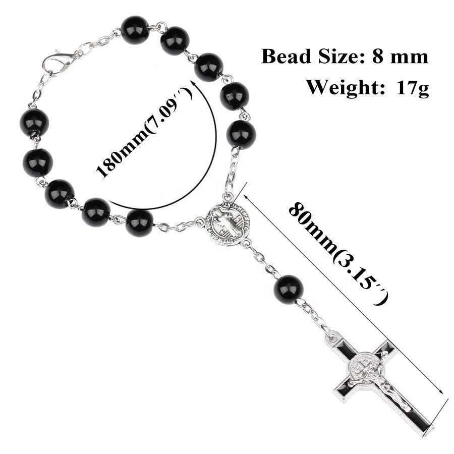 Simple Design Beads Cross Charms Catholic Bracelets