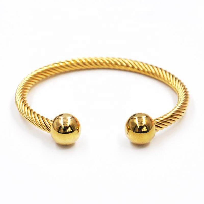 Vintage Style Punk Gold Plated Bracelet Stainless Steel Jewelry