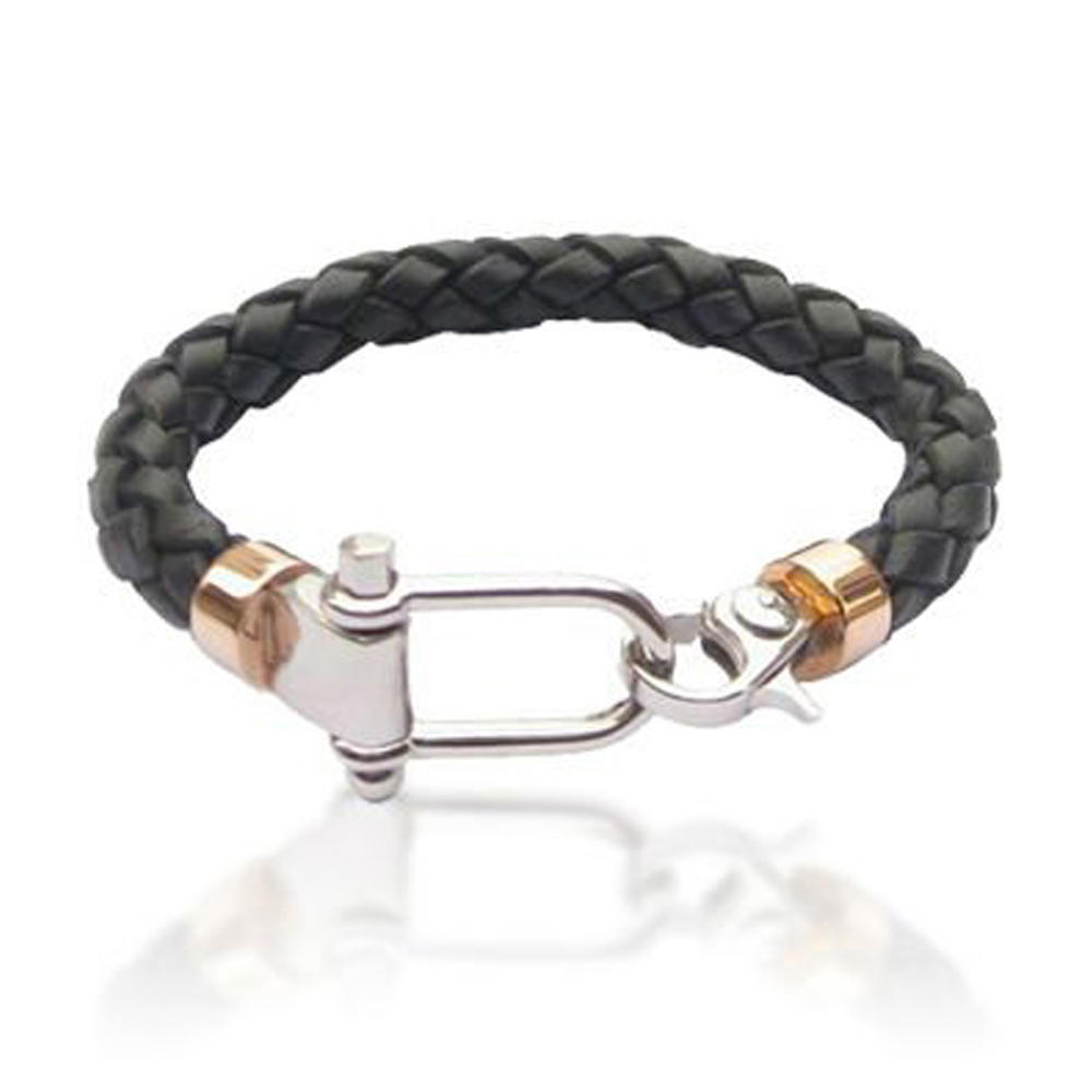 Cheap Leather bangle and bracelet for big wrist
