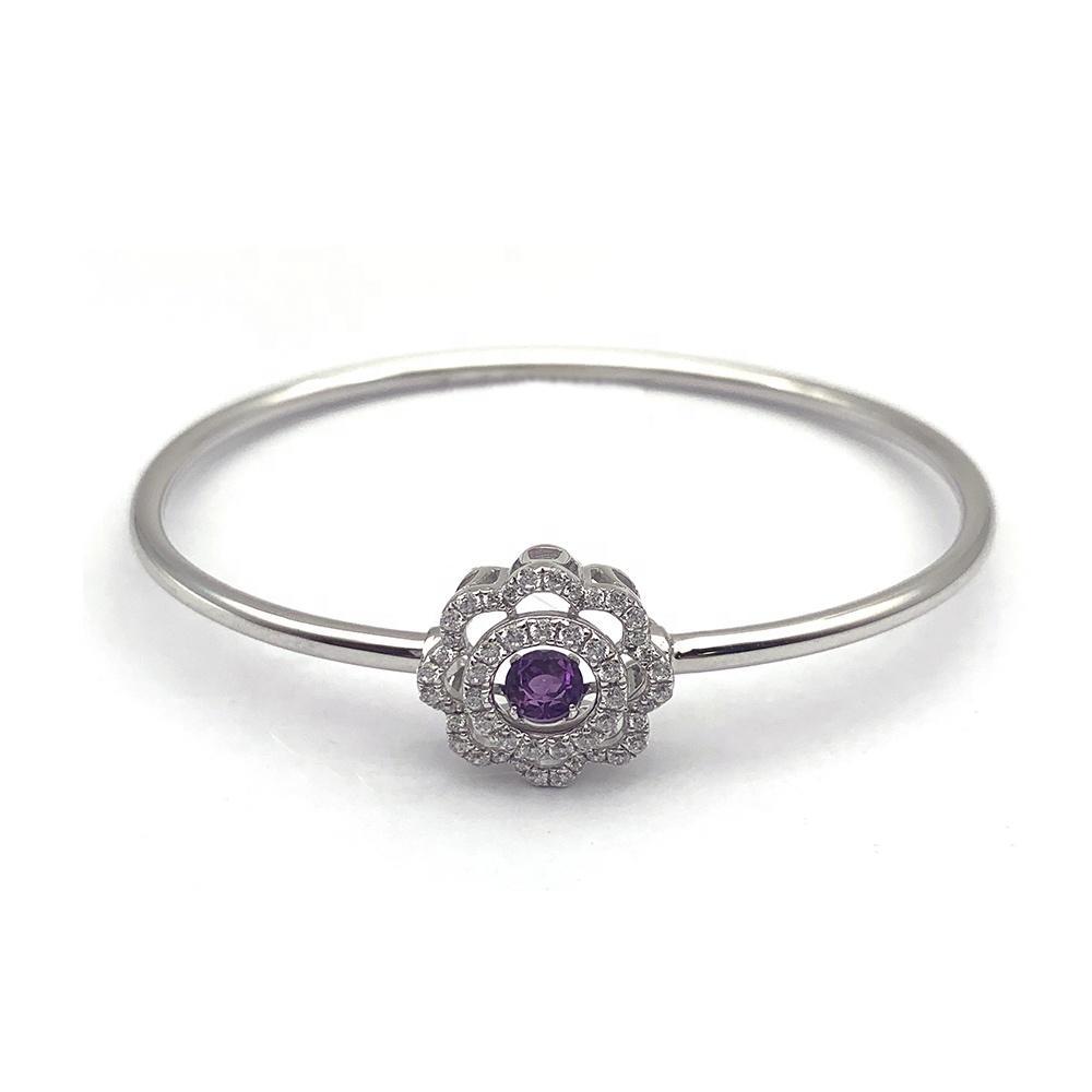 Characteristic Gemstone Silver Prom Jewelry Platinum Bracelet