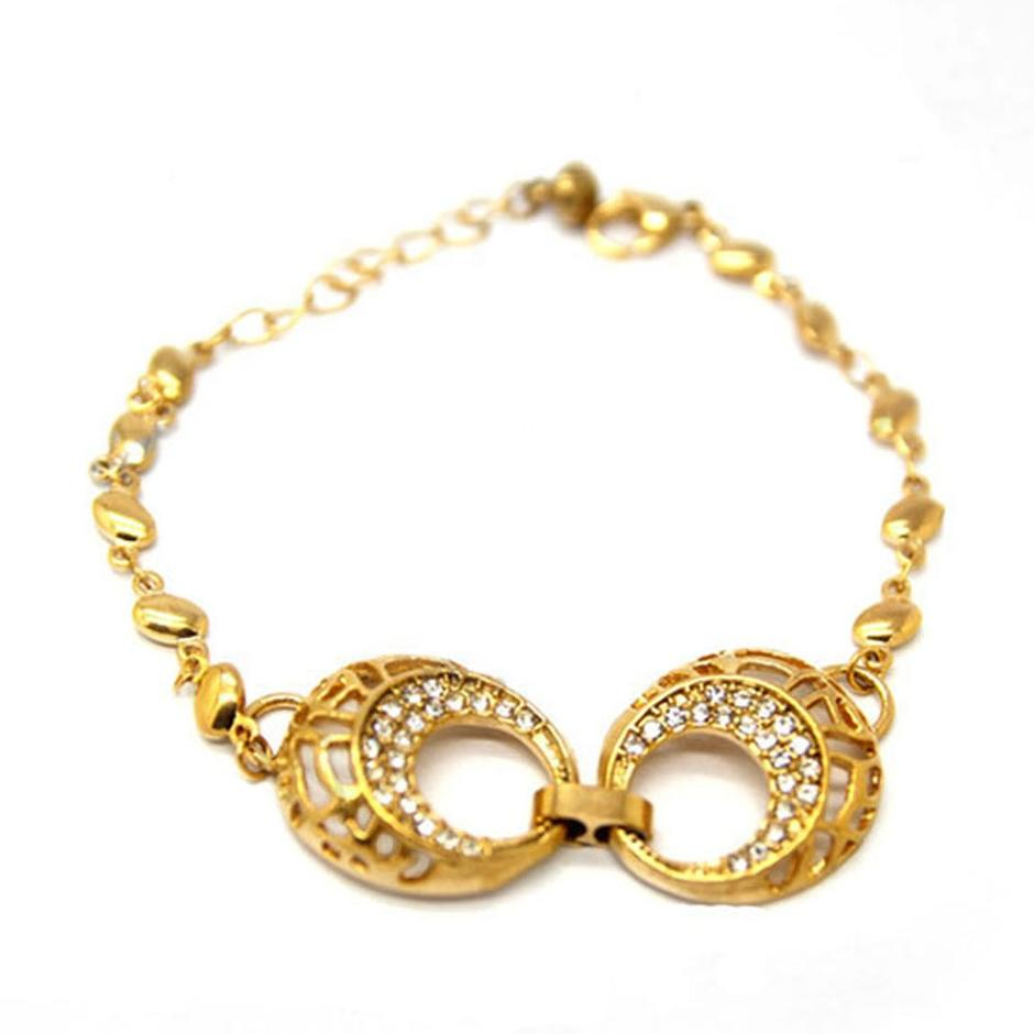 Moon Hoop Beads Chain Designer Gold Ladies Bracelet