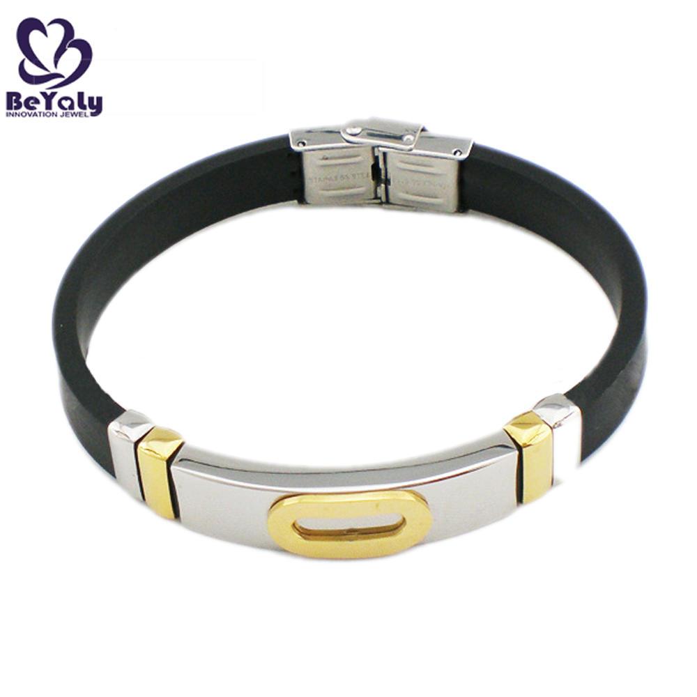 Black rubber shiny wholesale copper magnetic bracelets