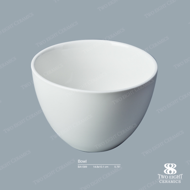 Wholesale products reasonable price instant noodle deep mixing round porcelain storage bowl