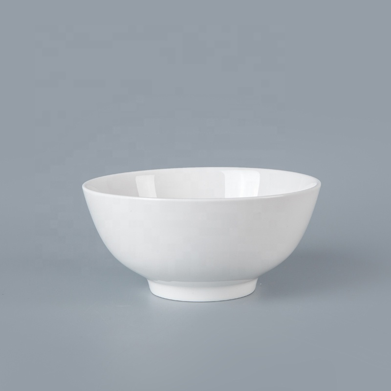 Durable Coupe Bowl Ceramic Tableware For Hotel White Bowls, China Porcelain Ceramic Salad Bowl*
