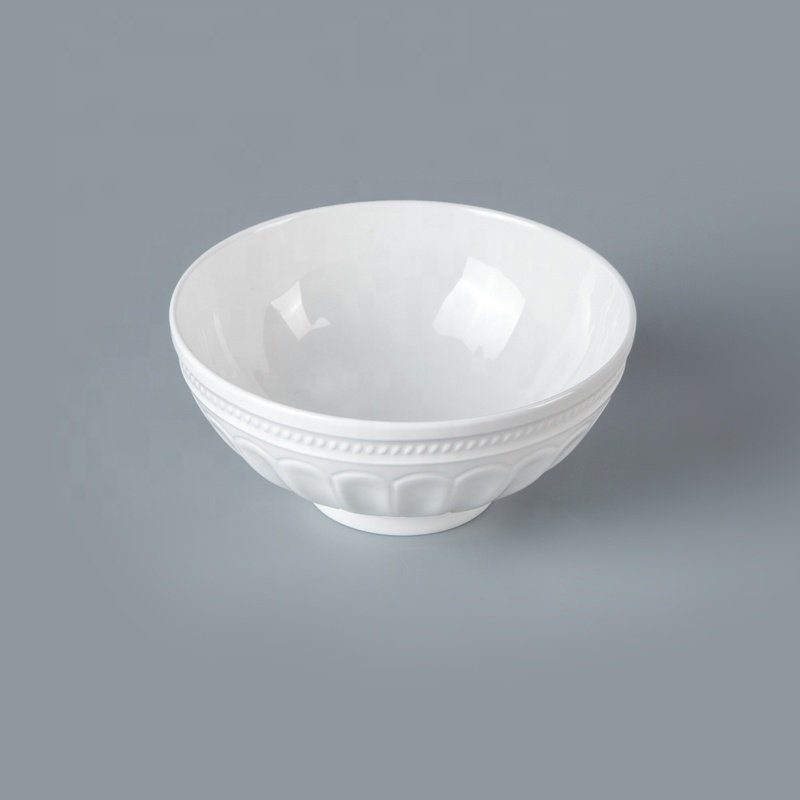 White Bone China Hotel RestaurantTableware Rice Soup Noodle Bowl, Restaurant Hotel Supplies Ceramic Salad Bowl*