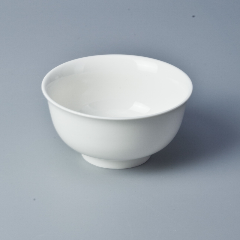 Top choice white porcelain 5.25 inch round western ceramic bowl