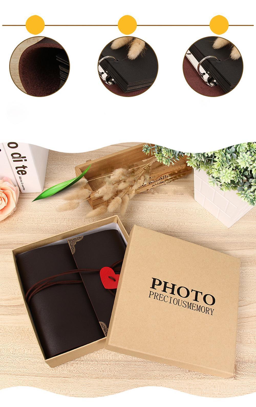 product-Dezheng-Wholesale Soft PVC Self Adhesive Sheets Loose Leaf Wedding Faux Leather Photo Album -1