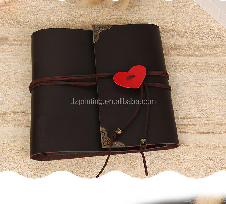 Wholesale Soft PVC Self Adhesive Sheets Loose Leaf Wedding Faux Leather Photo Album With Packaging Box