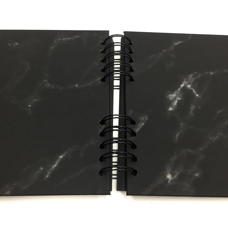 product-Dezheng-100 Thick Pages Black Leather Hardcover Scrapbook Albums For 4x6 Photo-img-1