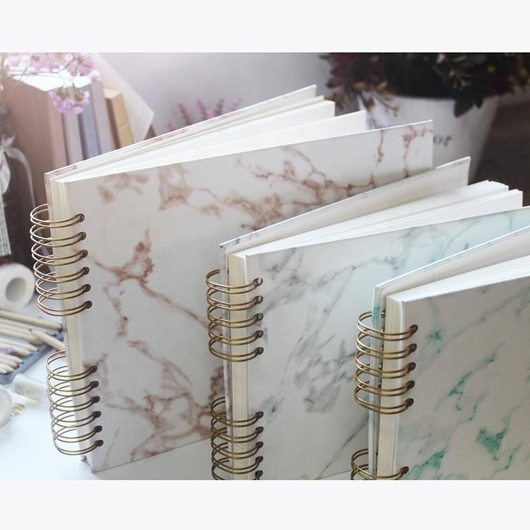 Marble design Pu Leather Hardcover Scrapbook Photo Album for Mariage