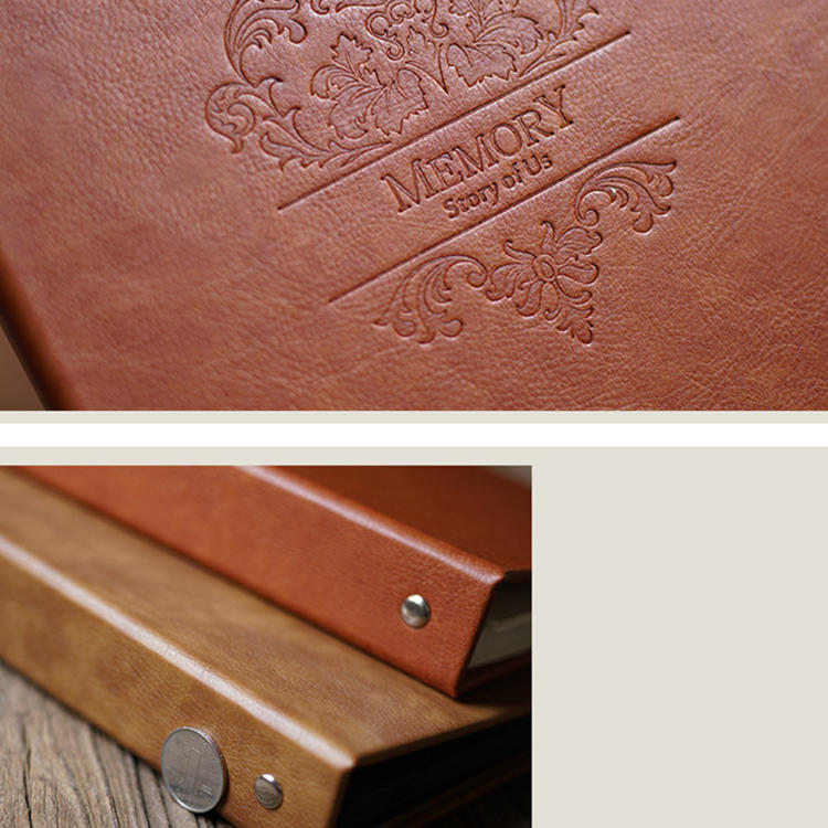 product-Dezheng-Vintage Style 8x12 Inches Embossed Leather Wedding Photo Albums For Lover-img-1