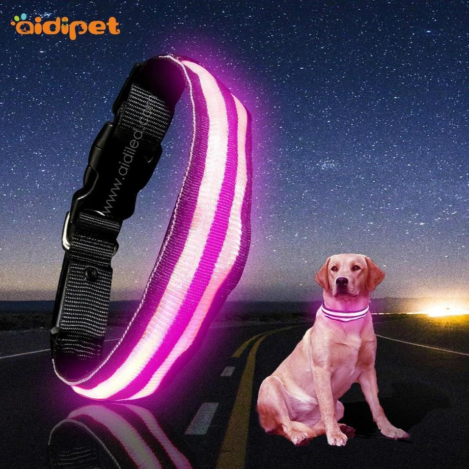 Best Super Led Dog Collar Pet Supply 2020 New Trend Pet Products Wholesale No Fears Led Flow In the Dark Collar