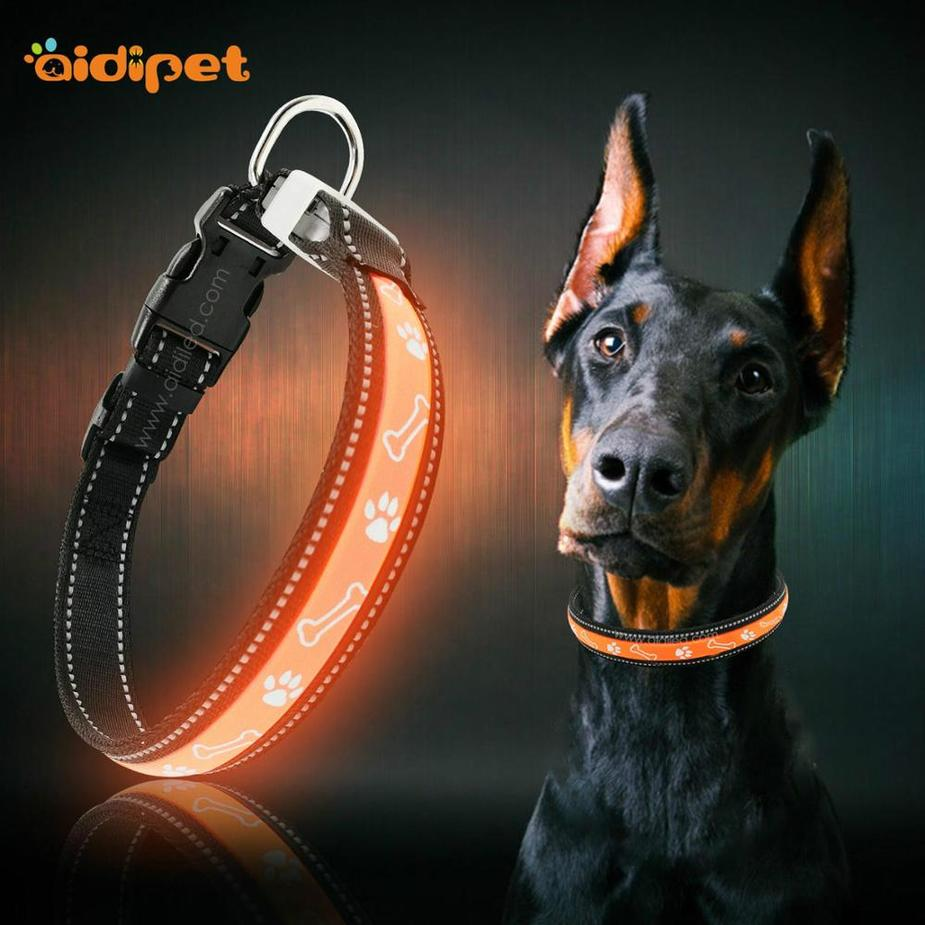 Hot Selling Products led PetCollar And Leash For Puppy cute dog collar