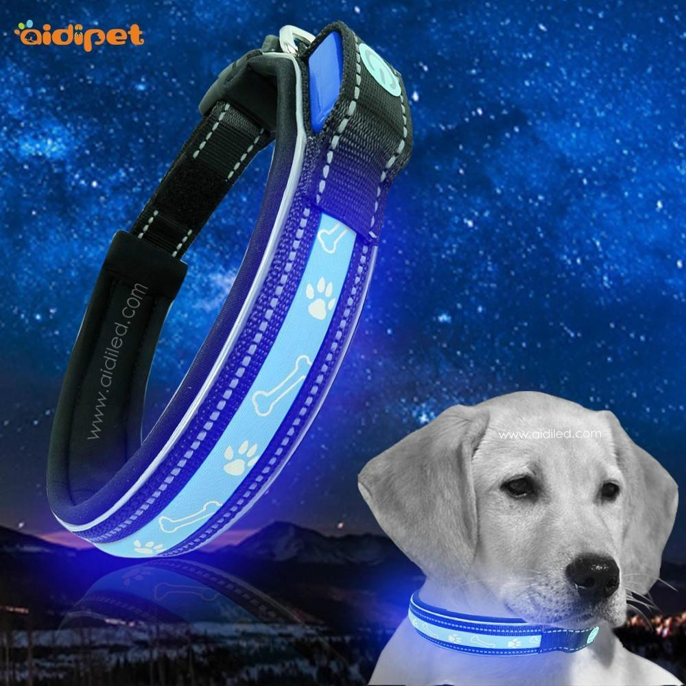 Heavy Dog Collar with Led Christmas Gift for Your Pet Flashing Led Dog Collars Strong Pulling for Big Dogs