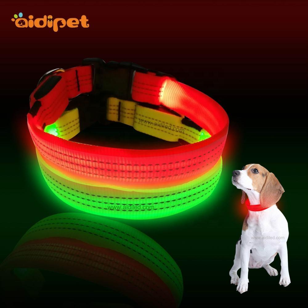 All 4 Pets Led Dog Collar Leash Sets Factory Price Innovative Flashing Led Collar for Dogs Luminous Pet Accessory