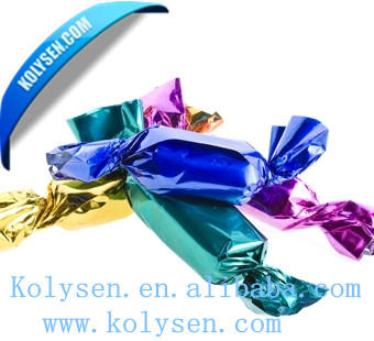 23 25 micron Twist Metallic PET Film for packaging of Confectionery candy