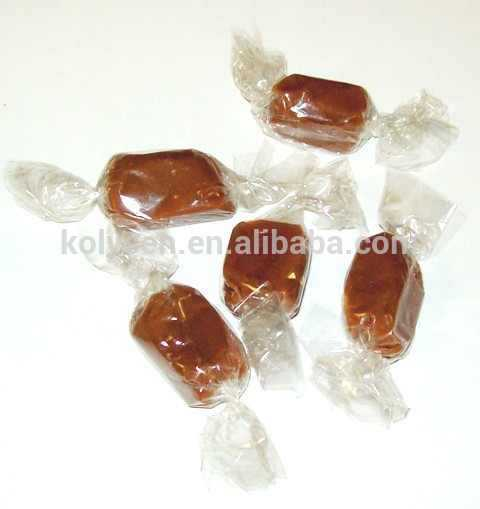 Food grade transparent PET twist film for packing caramel/hawthorn