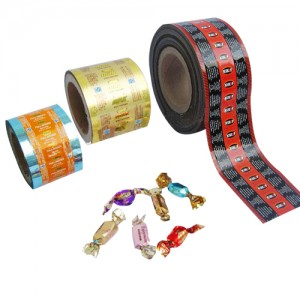 KOLYSENCustomized food grade Metalized PET Twistable Film for candy wrapper made in china