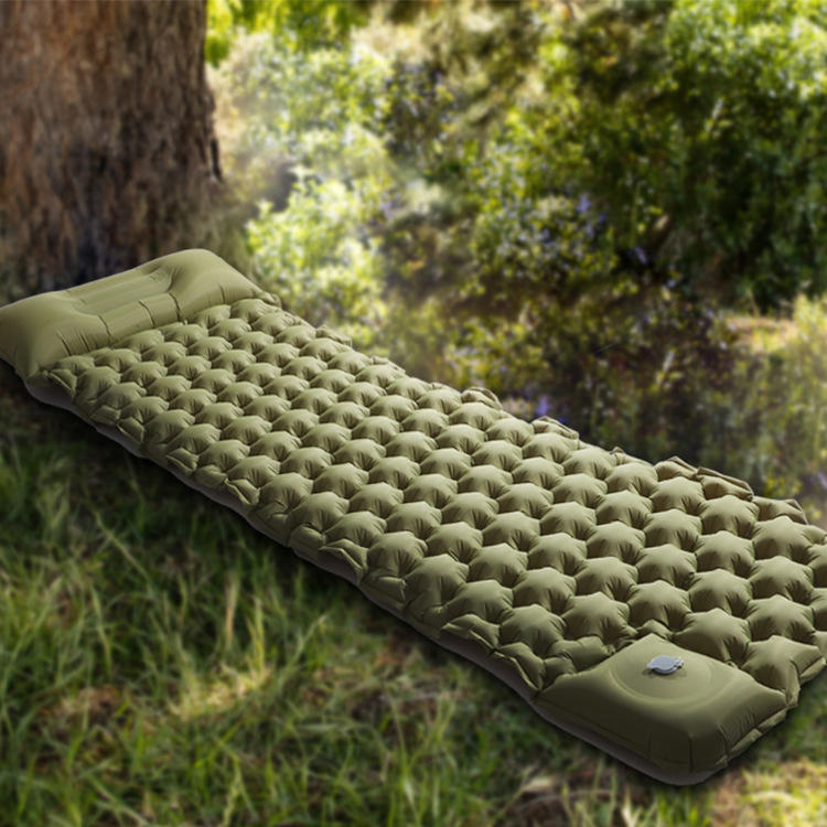 Foot Press outdoor hiking camping light weight sleeping inflatable mat/inflatable pad