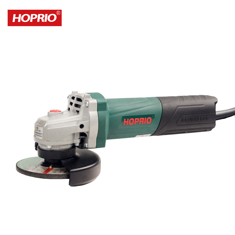 Hoprio 220V AC 100mm corded brushless angle grinder factory