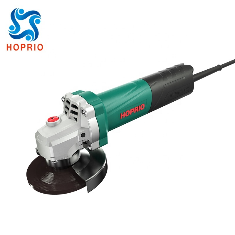 HOPRIO S1M-100YE2 220V 12000RPM 4 inch brushless angle grinder power tool OEMODM