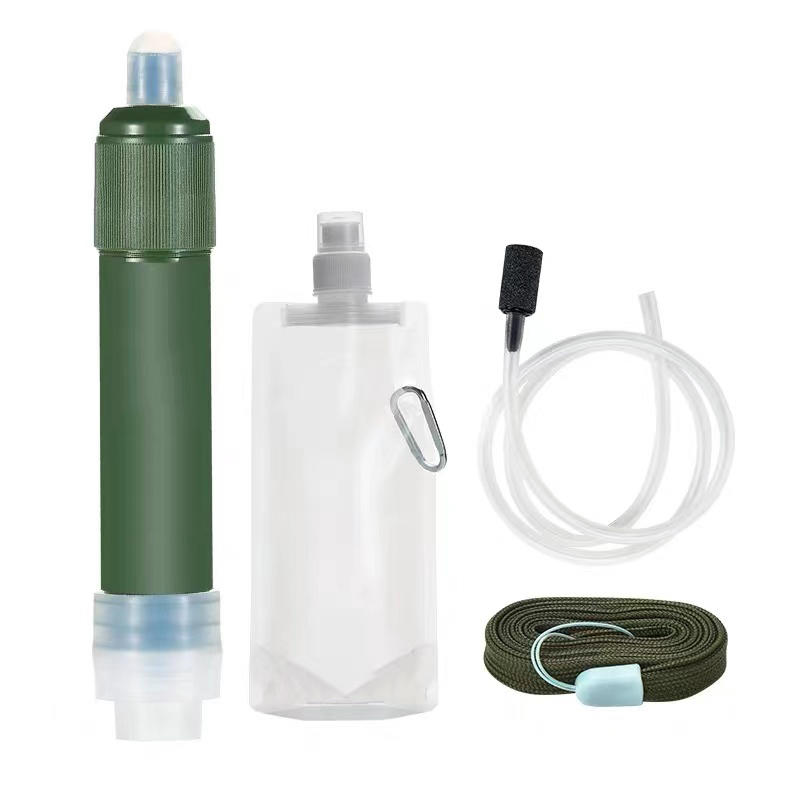 Wholesale Best Price Of Improve Drinking Water New Outdoor Water Filter Bag Design Collapsible Water Bottle With Filter