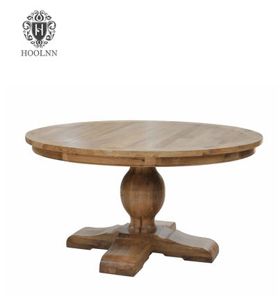 Round Top Natural Oak Dining Table D175-150