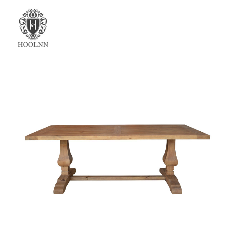 Salvaged Wood Trestle Table (Dining Table P236)