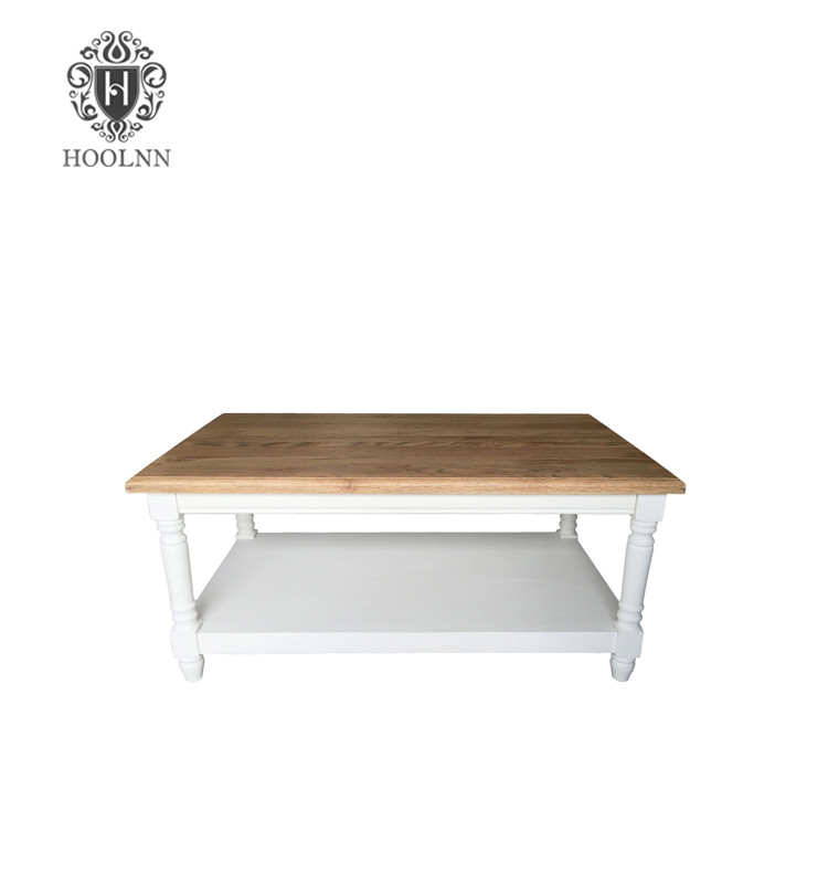 French White Wash Coffee Table For Living Room HL914S