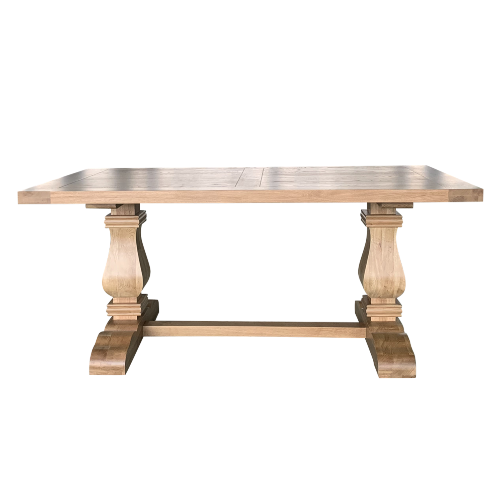 French style 4 Seater soild Wood Dining Table