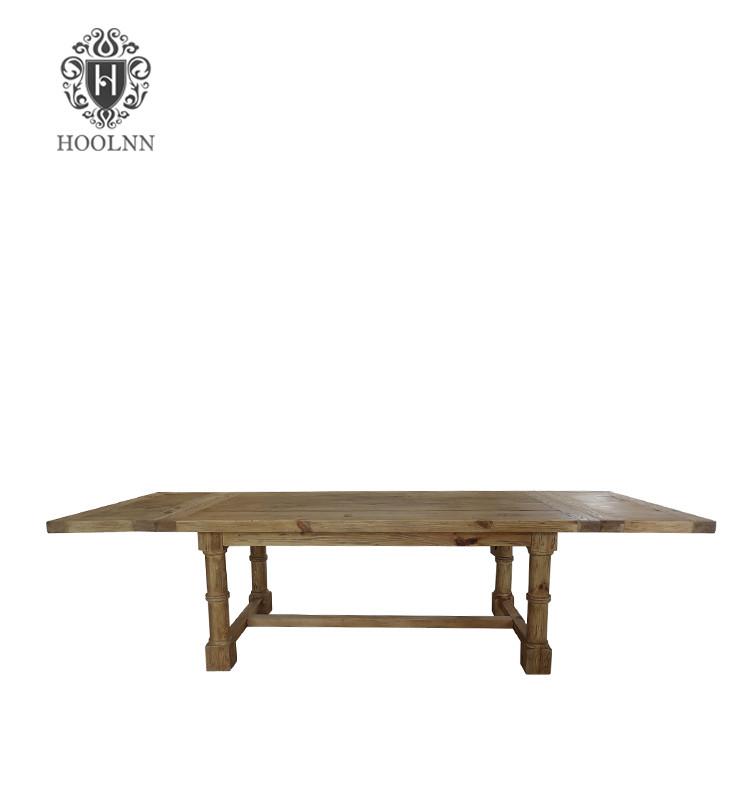 Salvaged Wood Gun Barrel Table D1622-300