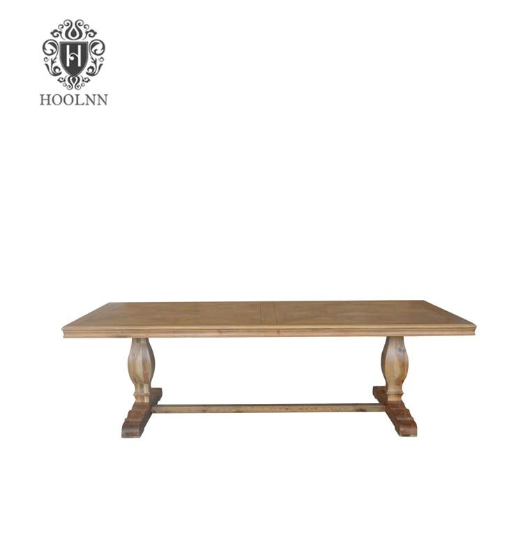 Parquet Trestle Dining Table T159-260 P