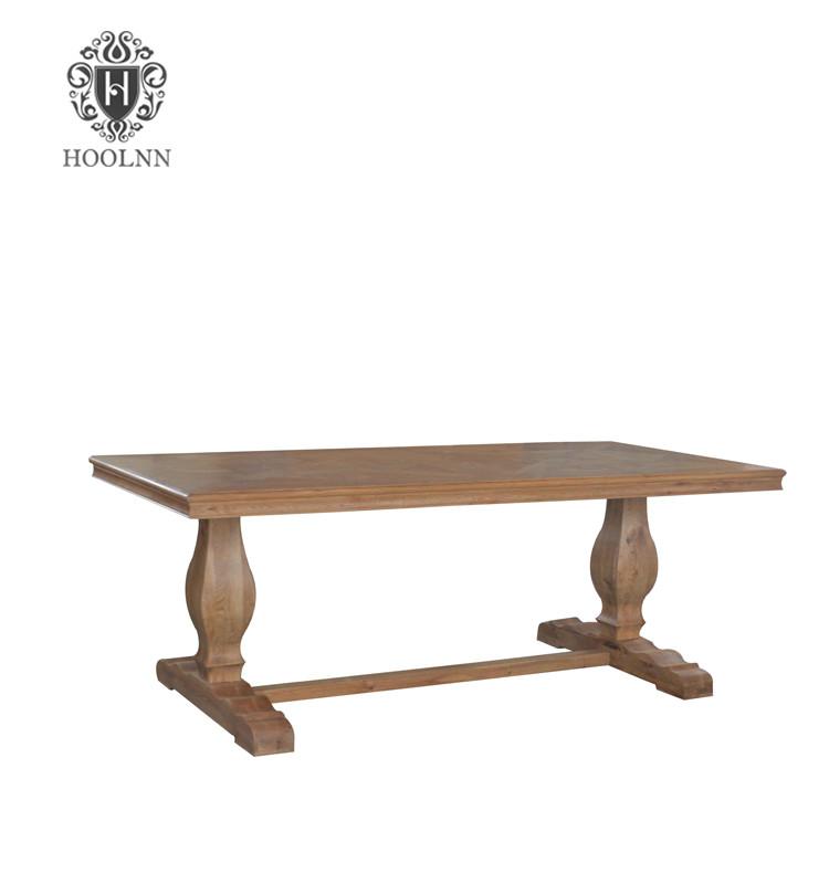 Oak Trestle Dining Table T159-200