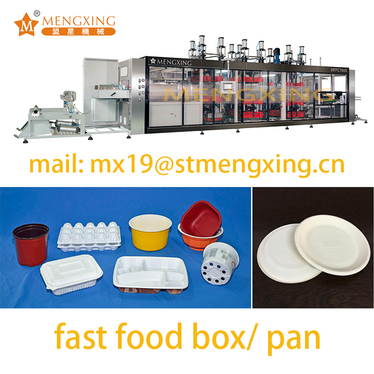 Fast Food Packing Box Vacuum Thermoforming Making Forming Machine