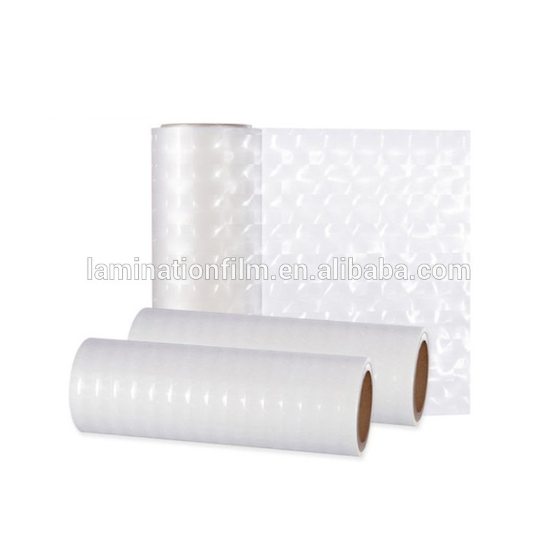 Factory Supplier Decoration 3D Transparent Film Thermal Laminating Roll Film With Photos