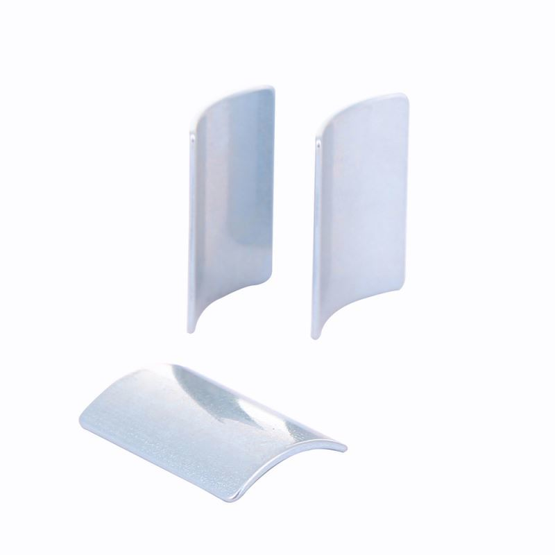 High quality wholesale silver arc ndfeb magnet tiles engine motor magnets