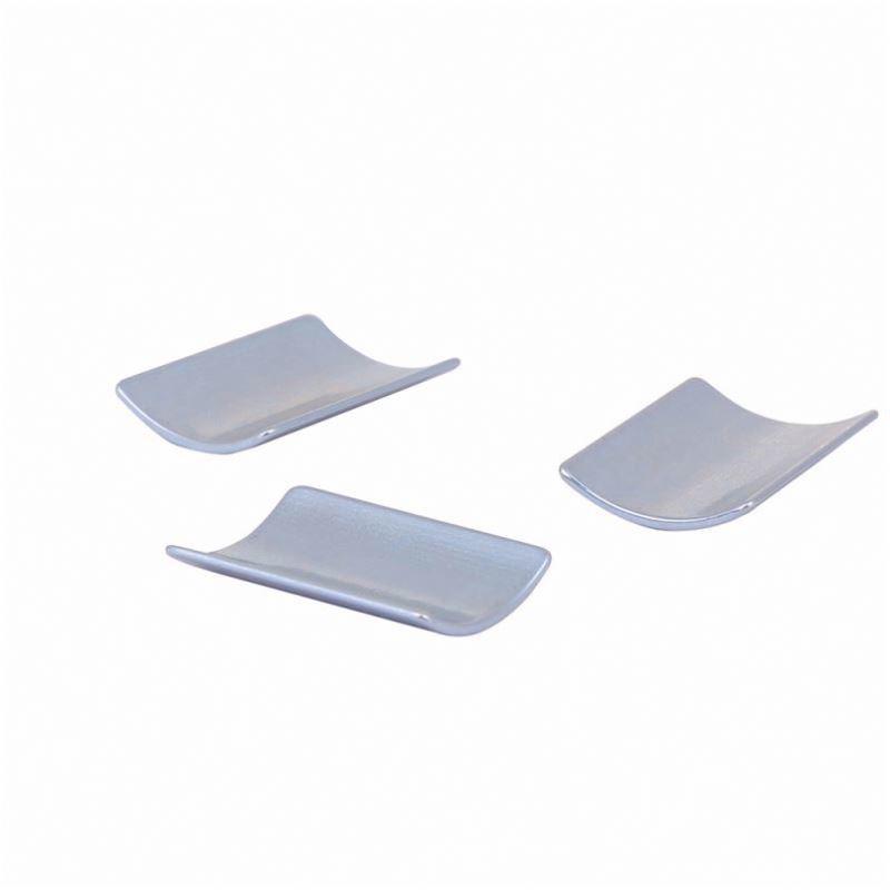 China supplier neodymium arc shaped motor permanent tile shape ndfeb magnet