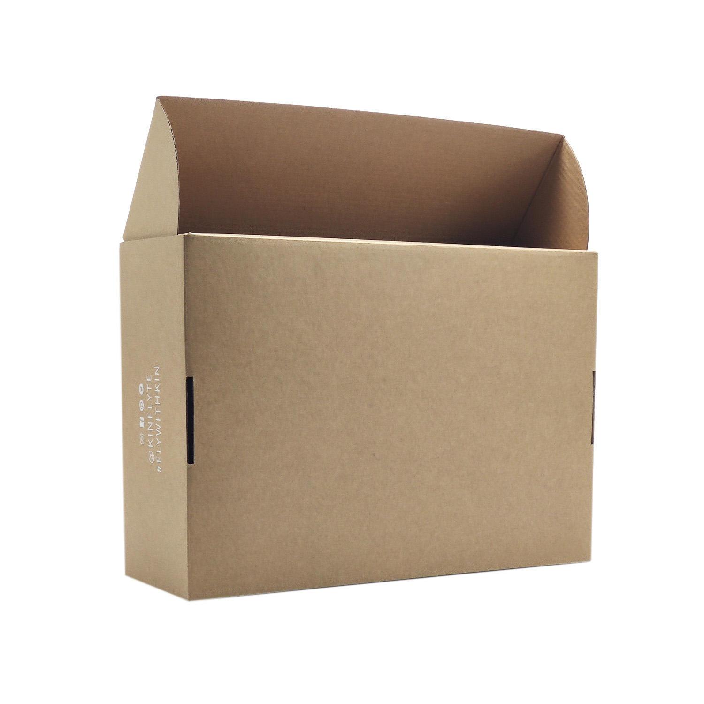 Custom folding kraft eco friendly pack suit kraft shoe moving shipping box