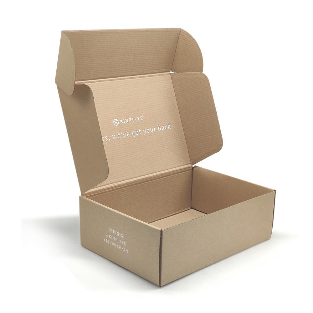 Custom Printed brown kraft paper foldable Shipper Paper Packaging skin care cosmetics Corrugated Shipping Box