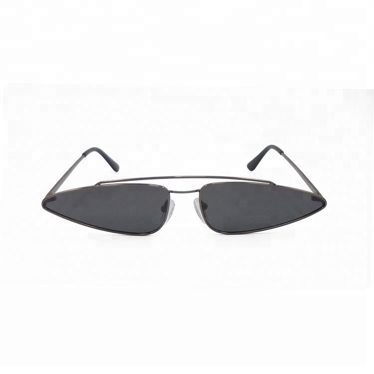 New arrival elegant stylish personalized black metal women sunglasses