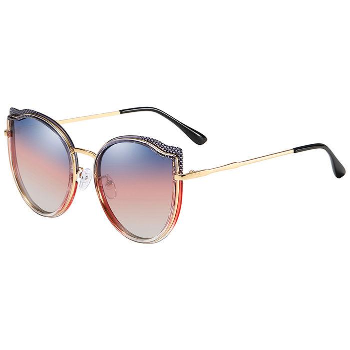 EUGENIATrendy Women Polarized Sun Glasses Oversize Frame Cat EyePrivate Label Sunglasses Newest 2019
