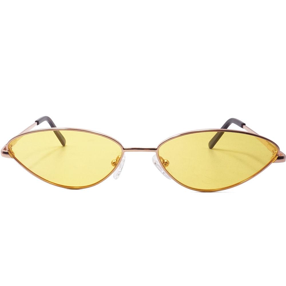 EUGENIA Funky Fashion Women Sunglasses Metal Polarized Small Shape Street Punk Sun Glasses