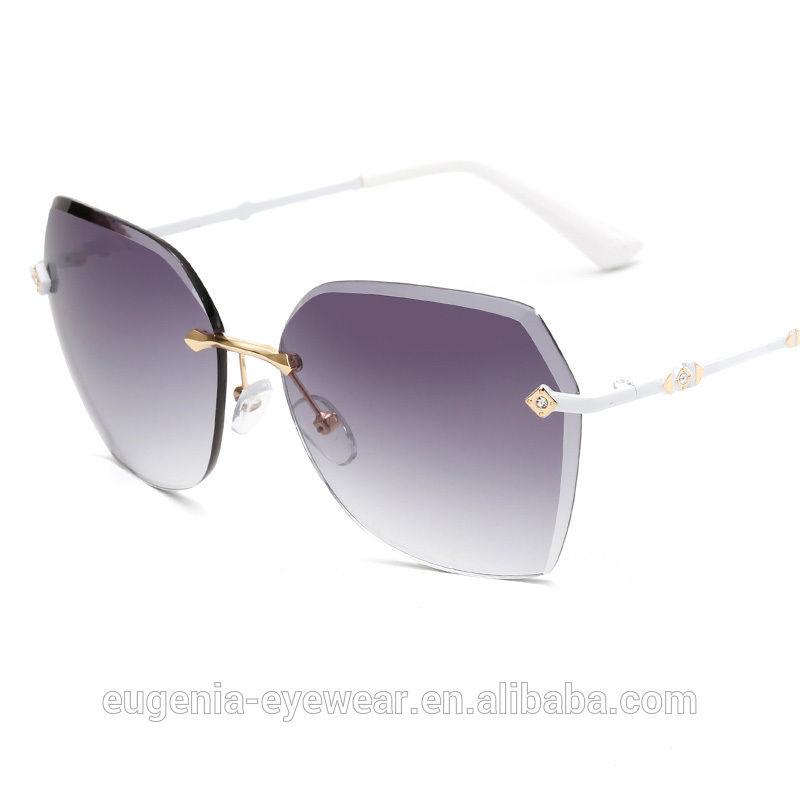 EUGENIA Newest fashion sunglasses women 2019 2020 frame less oversized sunglasses